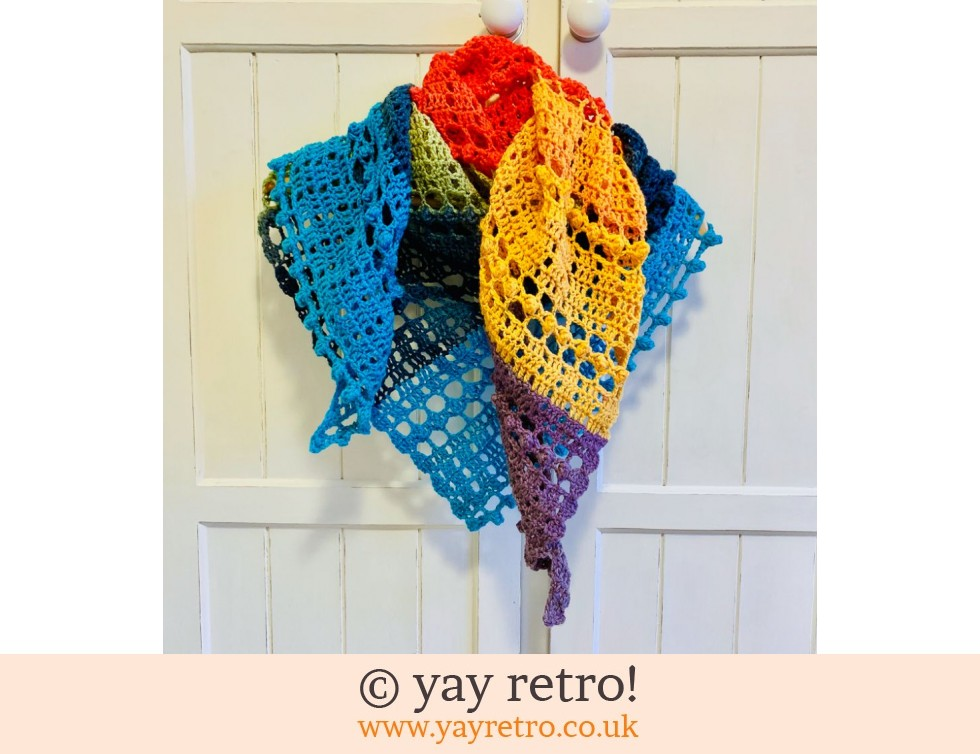 Pre-order a 'Droplets' Crochet Shawl from yay retro (£32.50)