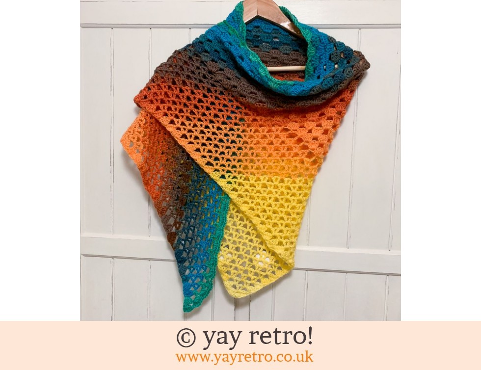yay retro!: 'Zing Zing' Crochet Shawl (£32.50)