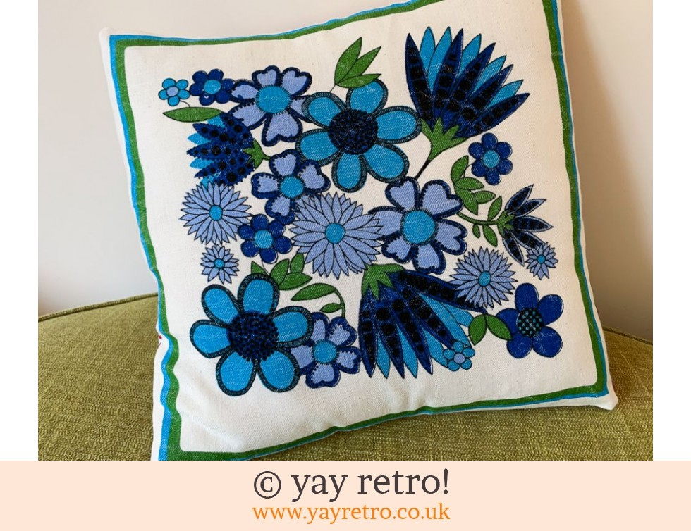Vintage Fabric 'Taunton Vale Design' Cushion (£18.00)