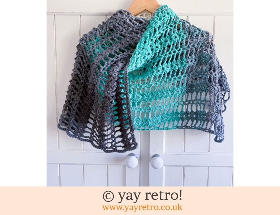 yay retro!: Mint Cream Crochet Shawl (£22.50)