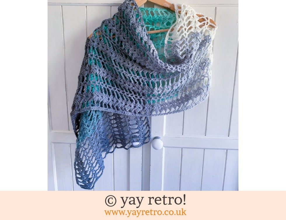 Mint Cream Crochet Shawl (£22.50)