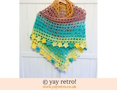 152: 'Primrose' Tea Flower Crochet Shawl (£32.50)
