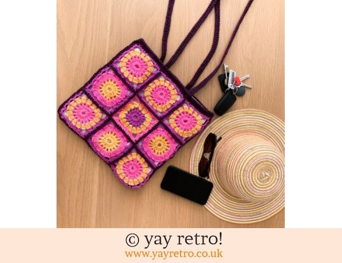 Flower Power Crochet Shoulder Bag (£22.00)