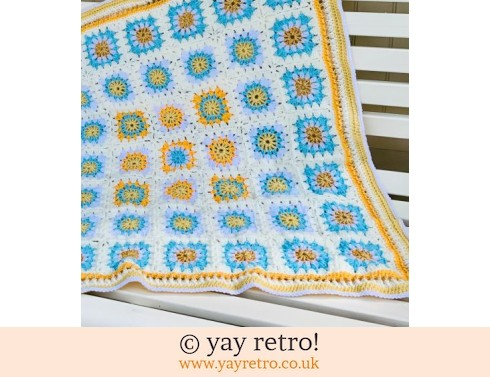 'Summer' Flower Power Granny Square Blanket - (£35.50)