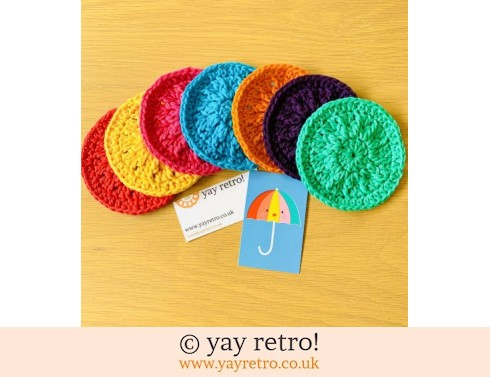 152: 7 Eco Friendly Re-Usable Crochet Face Scrubbies (£11.00)
