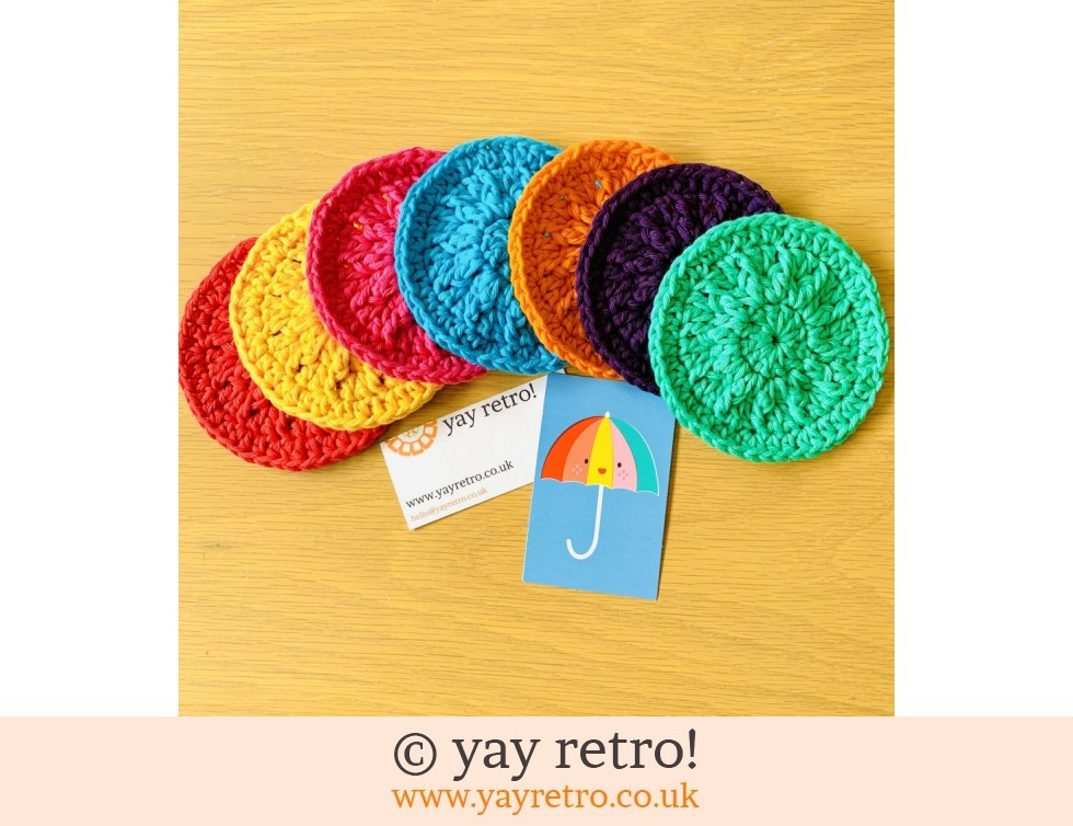 yay retro!: 7 Eco Friendly Re-Usable Crochet Face Scrubbies (£11.00)