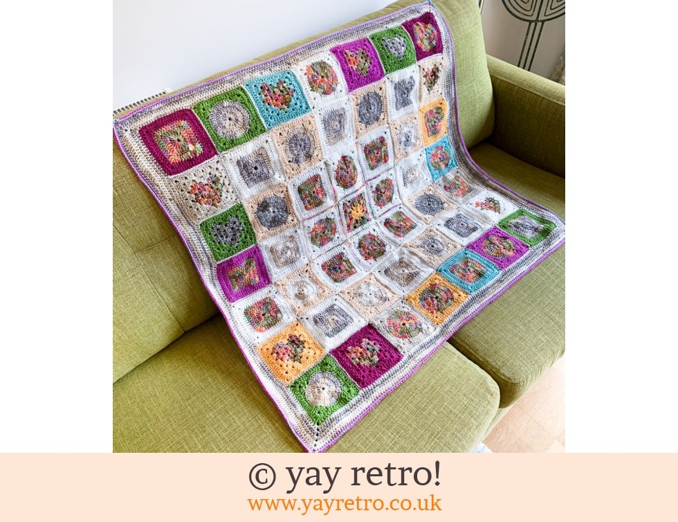 yay retro!: CHARITY SALE Granny Square Throw (£45.00)