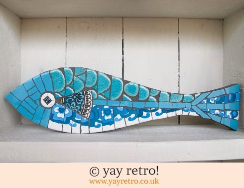 140: Flower Power Blue Fish (£26.00)