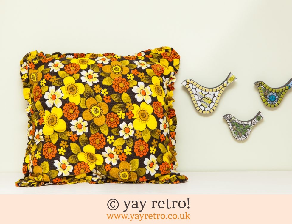 Barkcloth Daisy Cushions (£22.00)