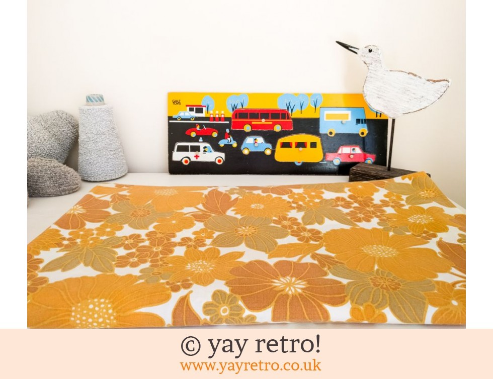 Orange Flowery Vintage Double Sheet (£24.00)