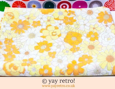 Yellow Vintage Single Duvet - Flowery! (£16.50)