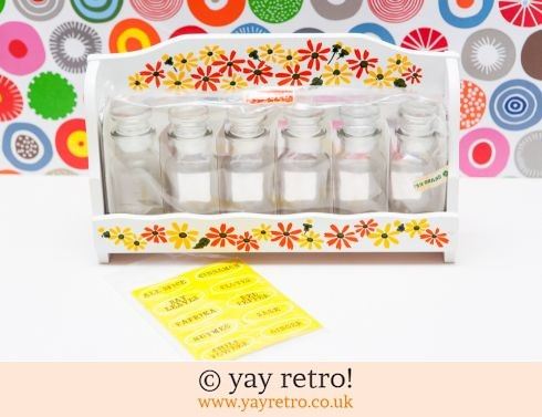 55: Flowery Vintage Spice Rack  - As New (£21.25)