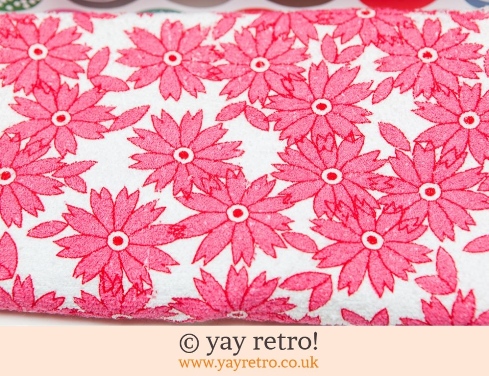 Pink Flowery Towelling Fabric Panel (£6.00)