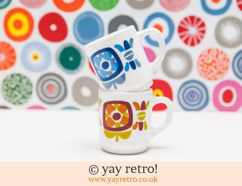 168: Funky Daisy Mugs - French (£12.00)