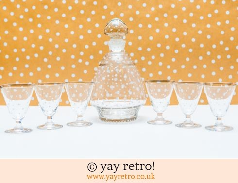 0: Vintage Decanter and Glasses Set - Snowy spots! (£29.95)