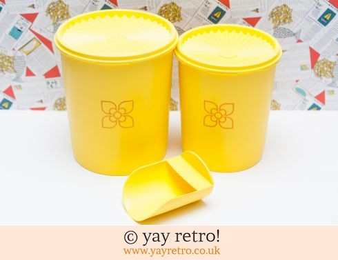 46: Tall Yellow  Tupperware Storage Containers (£22.95)