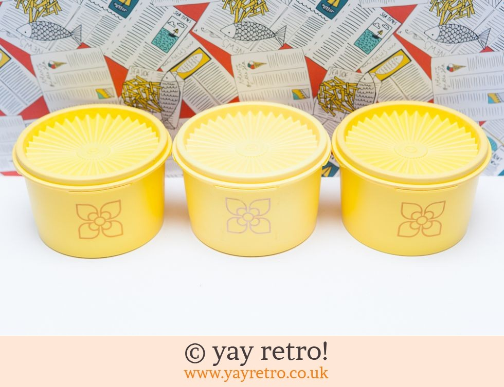 3 Harvest Tupperware Lidded Pots (£17.95)