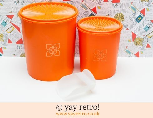 46: Large Orange Tupperware Storage Containers (£23.00)