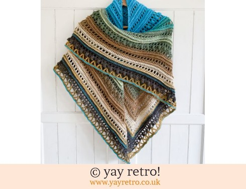 152: Clifftops 'Secret Paths' Crochet Shawl from yay retro! (£32.50)
