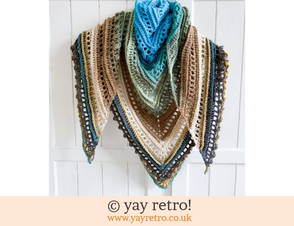 Clifftops 'Secret Paths' Crochet Shawl from yay retro! (£32.50)