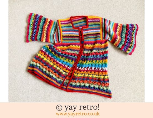 152: Crochet Jazzy Jacket 1974 pattern (£75.00)