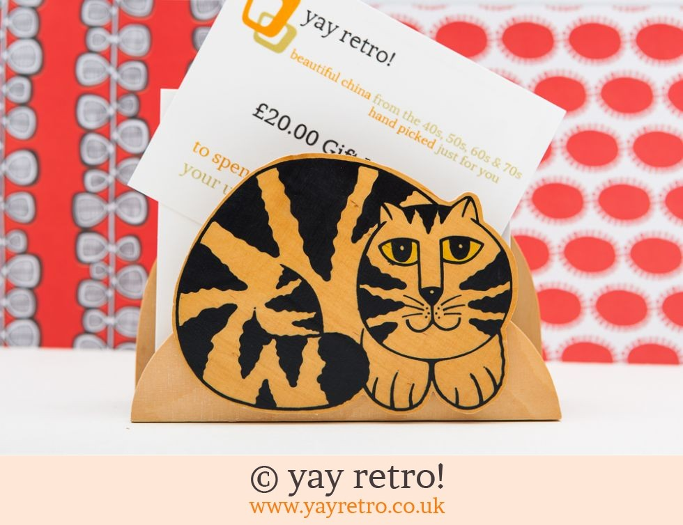Tabby Cat Letter Rack (£10.50)
