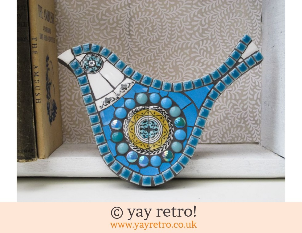 Blue Winkle Mosaic Bird Buy Yay Retro Handmade Crochet