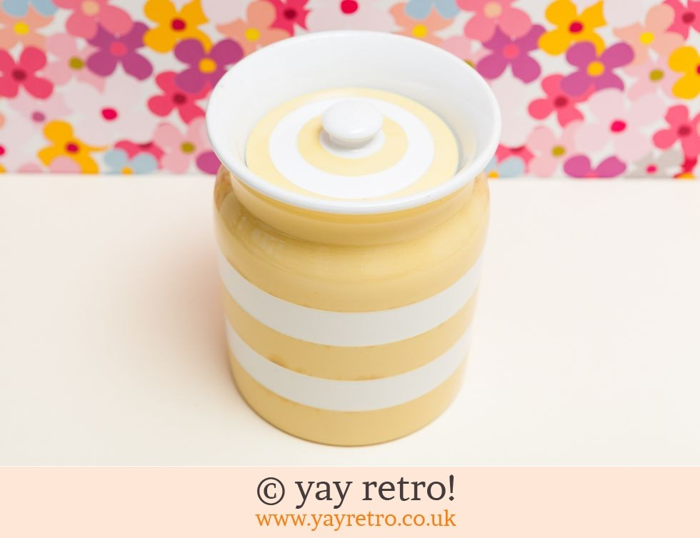 Large Yellow Cornishware Storage Jar Buy Yay Retro