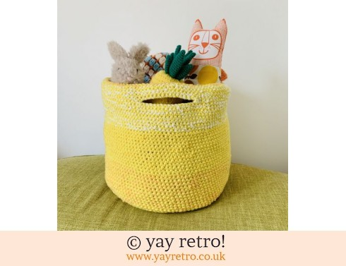 T Shirt Yarn Extra Large Ombre Storage Basket (£40.00)