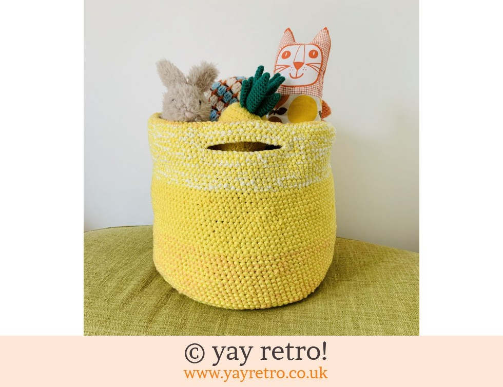 yay retro!: T Shirt Yarn Extra Large Ombre Storage Basket (£40.00)