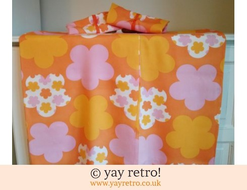 349: Orange Fabric Panels for Crafting (£5.00)