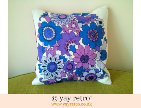 0: Purple Flower Power Vintage Cushion (£15.00)