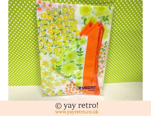 Orange Flowery Tablecloth & Napkin Set (£14.50)