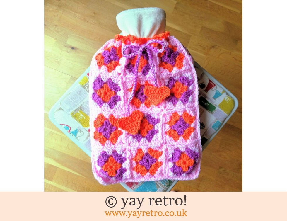 yay retro!: Flower Power Hot Water Bottle Set New (£17.50)