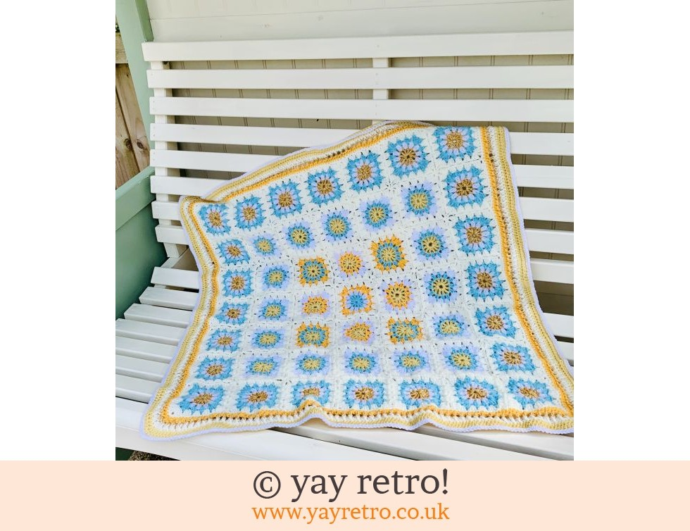 Summer Flower Power Granny Square Blanket Buy Yay Retro