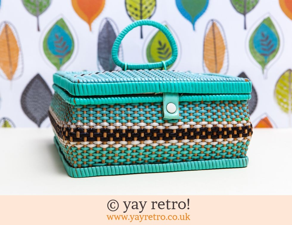 woven vintage sewing box