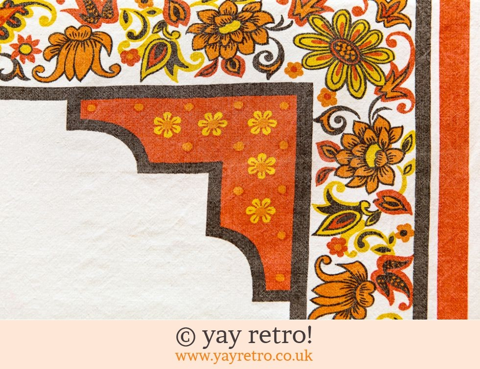 Orange 60/70s Tablecloth (£5.00)
