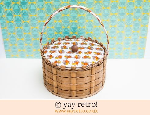 0: Round Flowery 70s Sewing Basket (£8.00)
