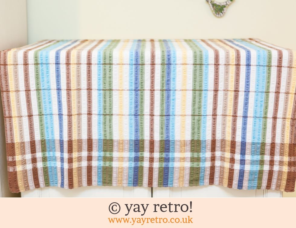 Vintage Seersucker tablecloth Yellow & Blue (£12.00)
