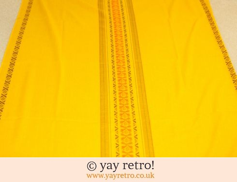 1970s Mustard Tablecloth  - Scandi (£14.00)
