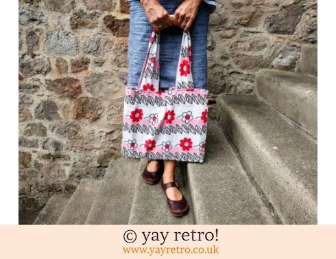 0: Vintage Pink Flower Power Bag (£6.75)