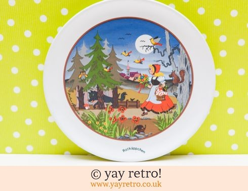 527: Red Riding Hood Plate - Furstenhofer (£8.50)