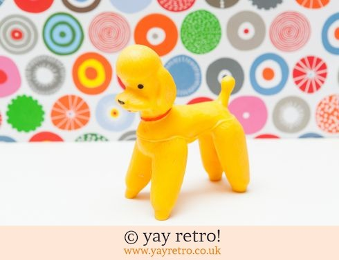 530: Kitsch Squeaky Yellow Poodle Toy (£15.75)