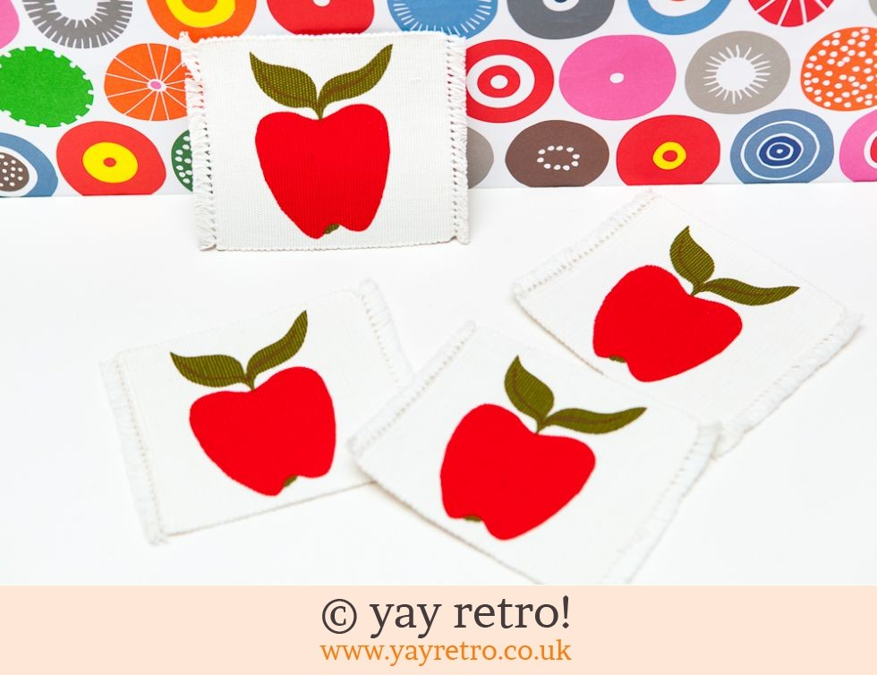 Big Red Apple Coasters (£12.75)