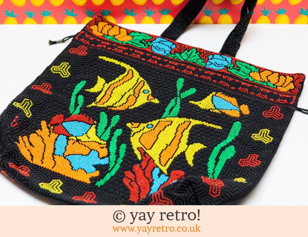 Vintage Bead Drawstring Bag (Tropical Fish) (£14.75)