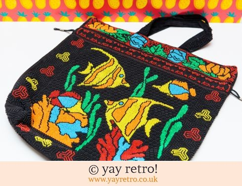 0: Vintage Bead Drawstring Bag (Tropical Fish) (£14.75)