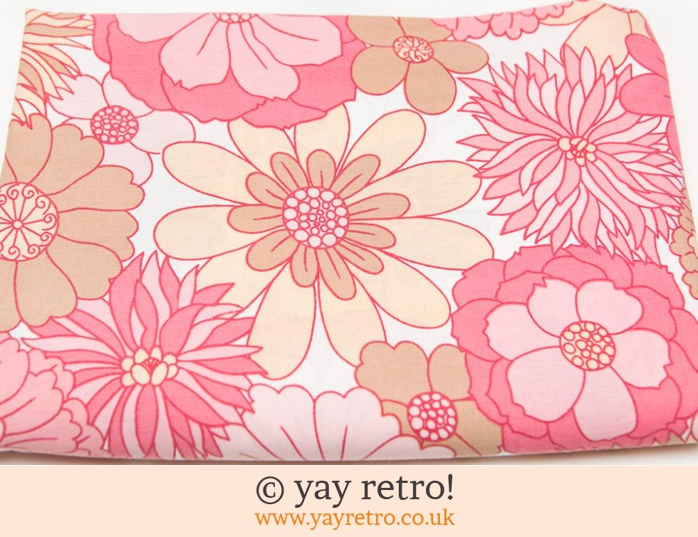 Vintage M&S Single Pink Flowery Sheet (£19.50)