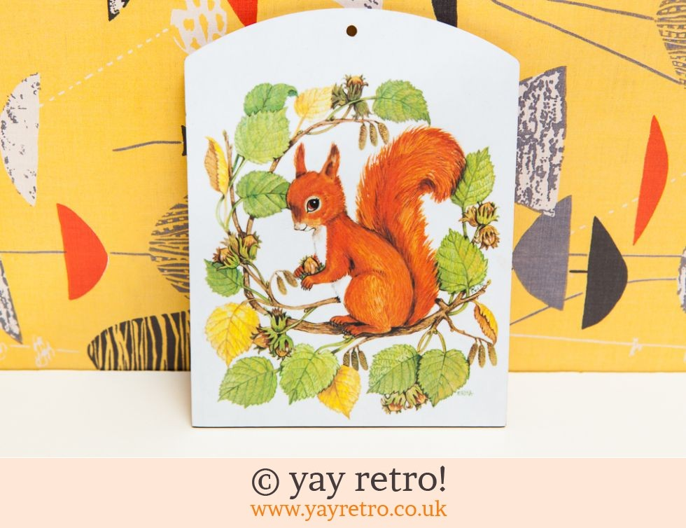 Dinky Squirrel Chop Serve Board Buy Yay Retro Handmade