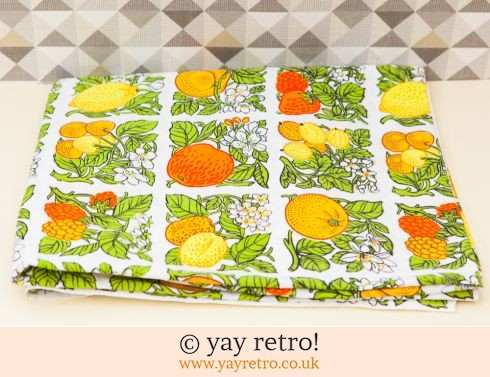 0: Vintage Fruity Curtain Material (£6.50)