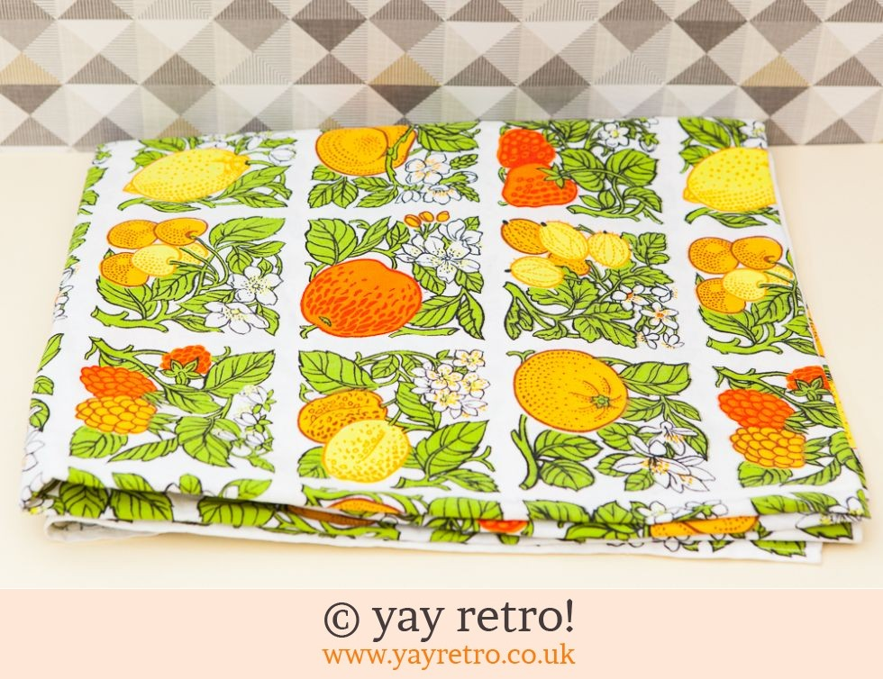 Vintage Fruity Curtain Material (£6.50)